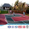 Uso ao ar livre e tipo de piso de plástico usado piso quadra de esportes