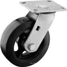Caoutchouc robuste sur roulettes à noyau de fer
