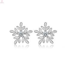 Гуанчжоу 925Sterling серебро цирконий серьги
