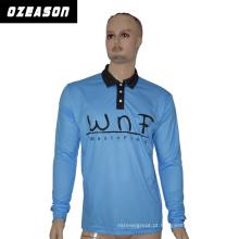 Atacado100% poliéster moda Polo T-shirt para homens, Sky Blue Polo
