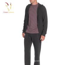 Men's Merino Wool Knitted Cardigan Hoodies with Zipper