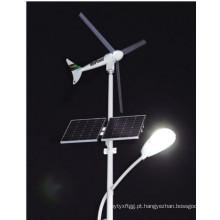 Posto de aço da iluminação solar do vento