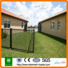 wrought iron security wire mesh fence