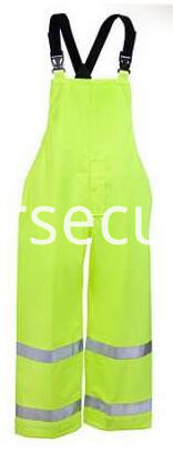 Men's High-Visibility Lime Green Waterproof Overalls
