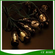 Solar Black 10PCS Small Horse String Lights for Christmas Holiday