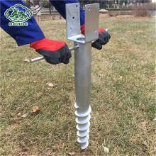 Q235 cheap galvanized helix metal ground screw anchor