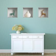 Vinil de PVC Removível Home Decor 3D Wall Art Decoração Etiqueta