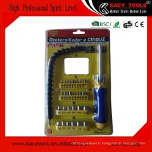 Ensemble d'outils de mécanique à main 44pcs