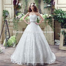 Romántico ver a través de espaguetis correas vestido birde vestido de novia con cuentas sin respaldo pavo atado