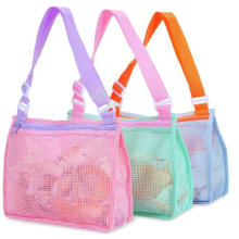 Cotton Mesh Beach Shell Collecting Bag Portable Toy Storage Bag for Kids