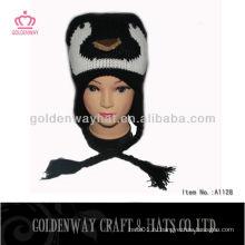 Трикотажная зимняя вязаная шапочка для младенца