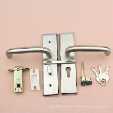 Serrure professionnelle de porte de toilette d'acier inoxydable 304 avec le cylindre de Pin et le verrou