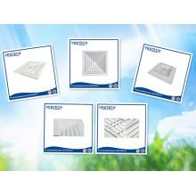 difusor de 4 vías techo aluminio para ventilación de aire