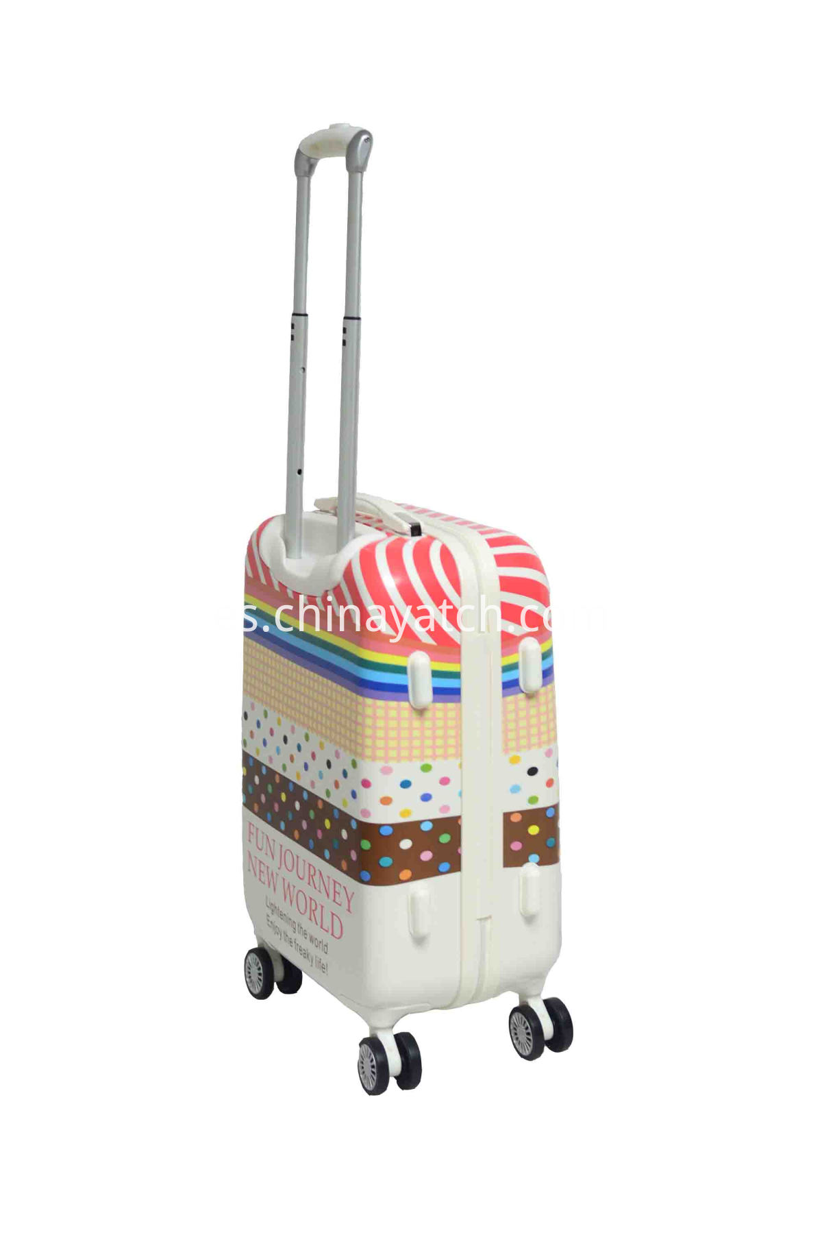 Cute Contrast Color Luggage Set