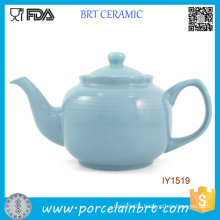 Elegant Baby Blue Ceramic Pot High-Capacity Tea Pot