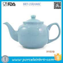 Elegant Baby Blue Ceramic Pot High-Capacity Tea Pot