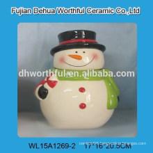 2016 New design ceramic christmas storage jar