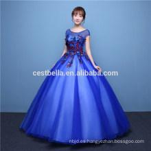 Servicio del OEM Color vestido de boda modificado para requisitos particulares del organza del vestido de bola vestido de noche verde azul