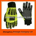 Oilfield Industry Leather Impact Mechanic Gloves With TPR
