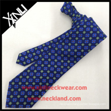 Newest Men's Top Trendy Hot Sale Blue Check Pattern for Silk Tie