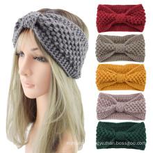 Bandeau fascia per capelli Wollen knitted Braid Knot sports headband ear protection headgear Winter Thick hair accessories