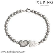bracelet-6-xuping fashion stainless steel jewelry,indian heart bead bracelets