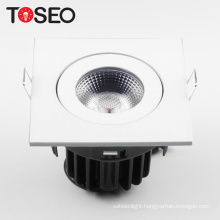 10 watt led downlight with 75mm cut out fire rated square led cob down light