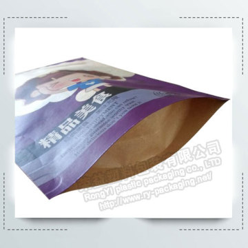 Reclosable  Zipper Kraft Paper Packaging Bags
