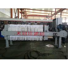Electroplating process waste water filter press