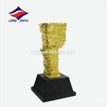 personnalisé trophée irrégulier trophée de métal pur