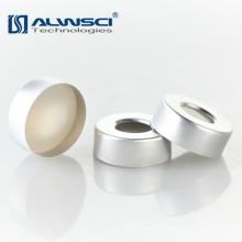 Boné de crimpagem de alumínio de 20mm com bege PTFE branco Silicone GC Septa