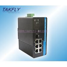 Comutador Industrial Ethernet de montagem em trilho DIN