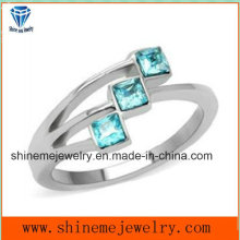 Shineme Fashion Jewelry Stainless Steel Stone Finger Ring