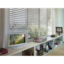 new design Europe interior white PVC plantation window shutter in bi-fold & sliding