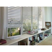 Novo design Europa interior branco PVC plantação janela obturador em bi-fold & sliding