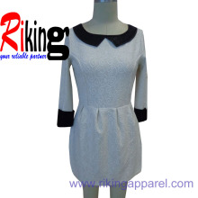 PU Neck Dress