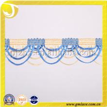 Borda de moda em forma de arco Fralda decorativa e borla de borla