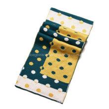 Inverno moda Jacquard Custom cashmere malha lenço