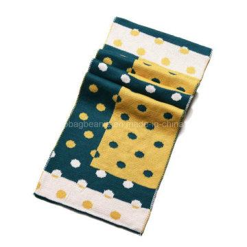 Winter Fashion Jacquard Custom Cashmere Knit Scarf