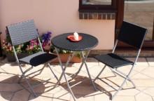 Murah teh lipatan makan perabot rotan di luar