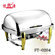 Stainless Steel Clamshell Buffet Stove (FT-0204)