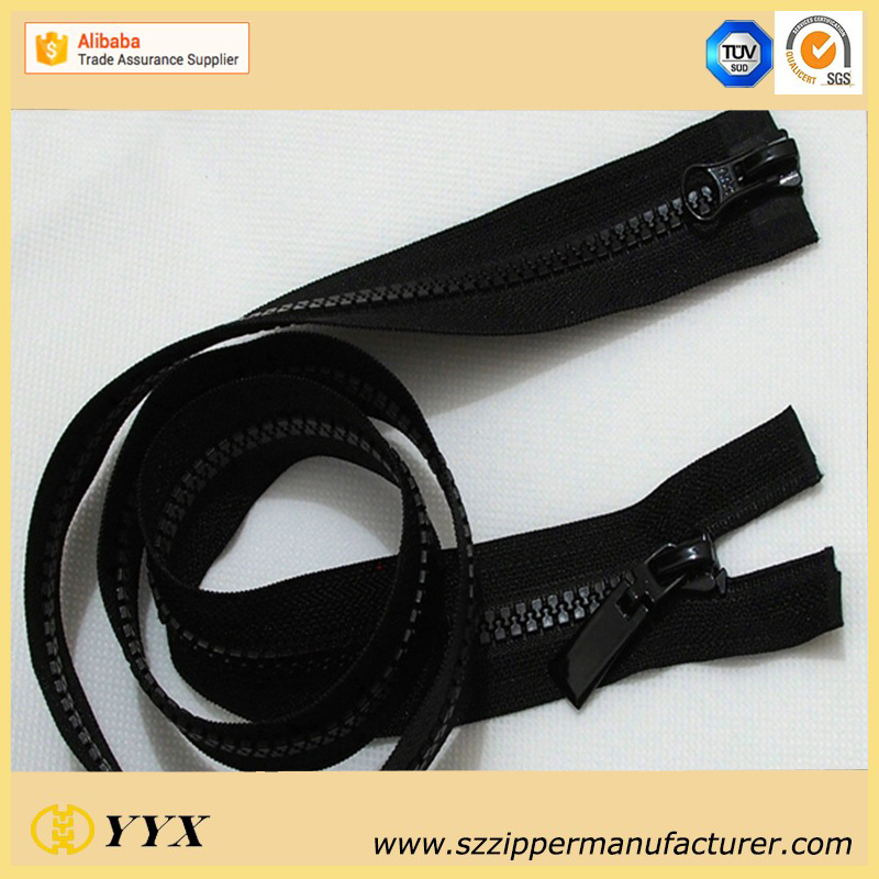 Two way Open End Plastic Zipper