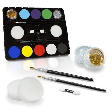 Childrens Face Painting Party Pack Kit dengan Stensil