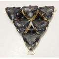 Black Stones Embellishments V Shape Sandal Chain