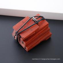 Créez votre propre cravate en cuir maigre de pêche faite à la main des hommes de marque
