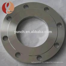 Brida de titanio de ajuste de la junta abatible Ansi B16.5 para conexión de tubería