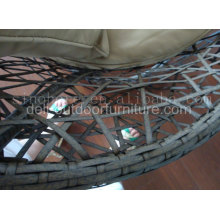 Chaise de rotin extérieure PE en plastique en acier de maille