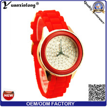 Yxl-184 Frauen Casual Großhandel Werbe Armbanduhren, Damen Quarzuhr Diamant Silikon Casual Uhr Frauen