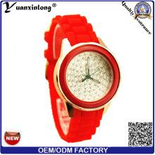 Yxl-184 mujeres ocasionales al por mayor promocional de relojes de pulsera, reloj de cuarzo de señoras de diamantes de silicona Casual reloj mujeres