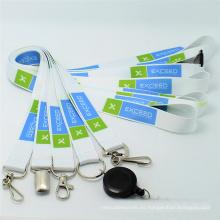 Correas de encargo del cuello del logotipo del poliéster para el tenedor de la tarjeta de visita